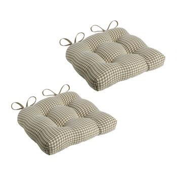 Tan Lattice Seat Pads, Set of 2