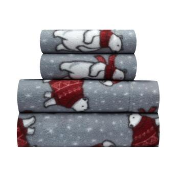 Sunbeam® Polar Bear Fleece Sheet Set
