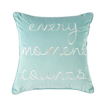 """Every Moment Counts"" Square Throw Pillow"