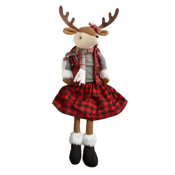 "14"" Reindeer Girl Ledge Sitter view 1"