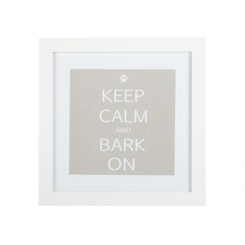 "15"" ""Keep Calm and Bark On"" Framed Wall Decor"