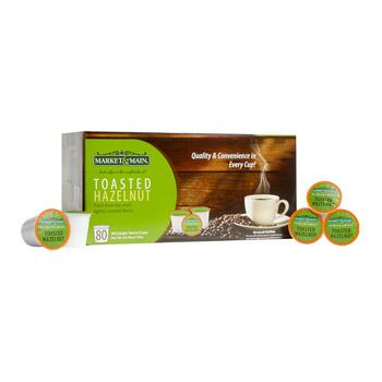 Market & Main® Toasted Hazelnut Coffee Pods, 80-Count