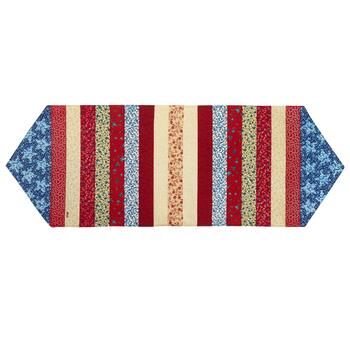 Patriotic Stripes Applique Table Runner