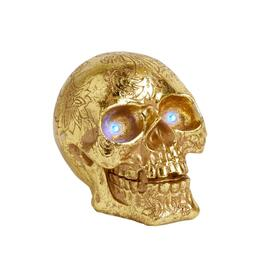 "5"" Gold Bing LED Skull Decor"