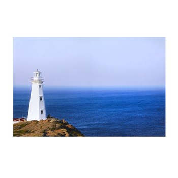White Lighthouse Photograph Canvas Wall Art view 1