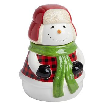 Holiday Snowman Cookie Jar