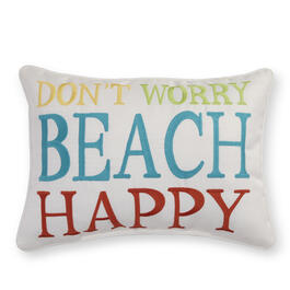 """Don't Worry Beach Happy"" 15"" x 20"" Throw Pillow view 1"