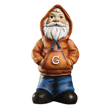 Orange Sweatshirt Gangster Gnome Garden Accent