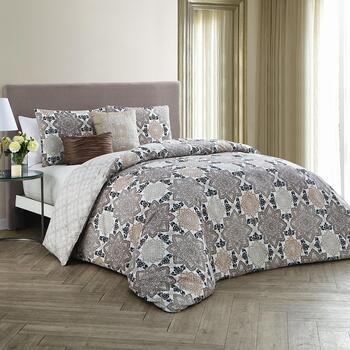 Greer Floral Reversible Bedding Set, 5-Piece