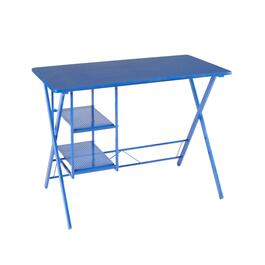 "29.5"" 2-Shelf Metal Office Desk"