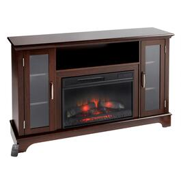 Wood Entertainment Center Media Stand with Electric Fireplace