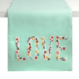 """Love"" Mint Embellished Runner view 1"