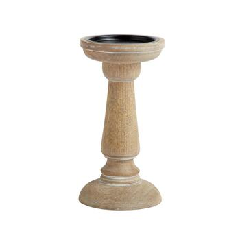 The Grainhouse™ Spindle Wood Pillar Candle Holder view 2