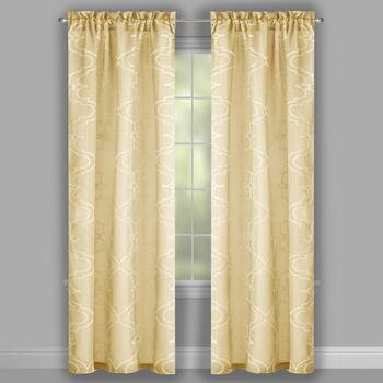 "84"" Gate Embroidered Window Curtains, Set of 2 view 2"
