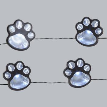 14.75' Paw Prints Solar Lantern LED String Lights