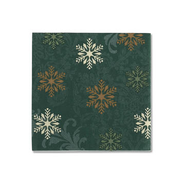 Green Snowflake Tree Bar Napkins, 36-Count view 1