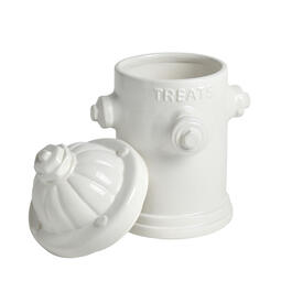 "White Fire Hydrant ""Treats"" Jar view 1"
