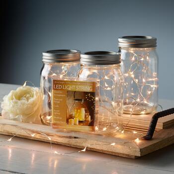 3 Led String Lights Mason Jars