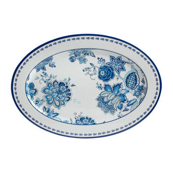 Waverly® Turquoise Floral Melamine Serving Platter view 2