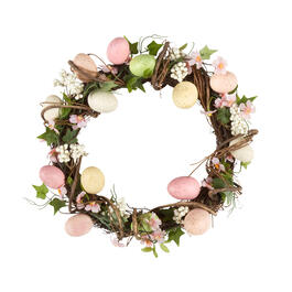 "20"" Easter Eggs and Flower Vine Wreath view 1"