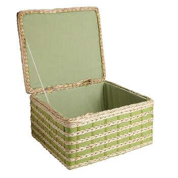 Woven Water Hyacinth Trunk with Hinged Lid