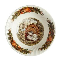 Bountiful Harvest Turkey Serving Bowl