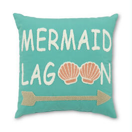 """Mermaid Lagoon"" 18"" x 18"" Throw Pillow view 1"