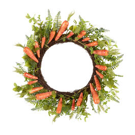 "22"" Carrots and Greenery Artificial Wreath view 1"