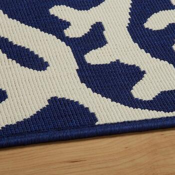Dark Blue Coral Reef All-Weather Area Rug view 2