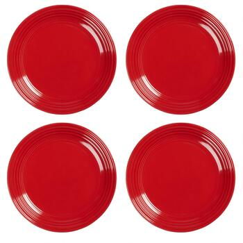 Bistro Red Salad Plates, Set of 4