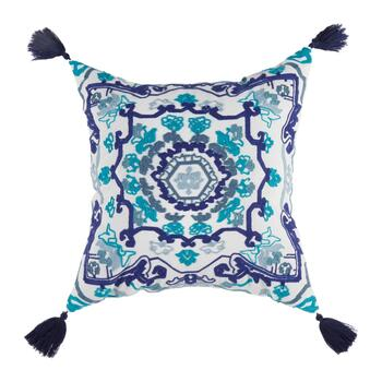 "Coastal Living Seascapes™ 18"" Blue Medallion Indoor/Outdoor Throw Pillow"