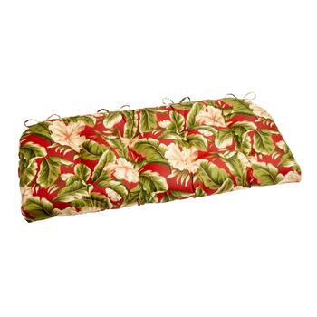 Red Palm Indoor/Outdoor Double-U Bench Seat Pad