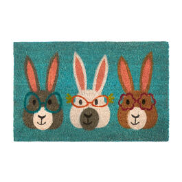 Glasses Bunny Trio Coir Door Mat view 1