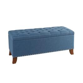 Bailey Tufted Storage Ottoman with Nailheads