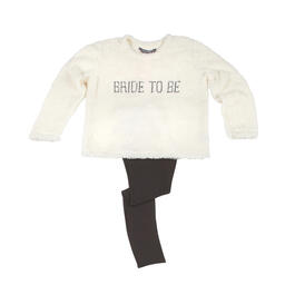 """Bride to Be"" Plush Shirt and Leggings Setl view 1"