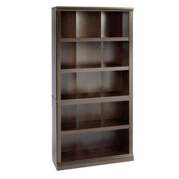 Sauder® Cinnamon Cherry Wood 5-Shelf Bookcase