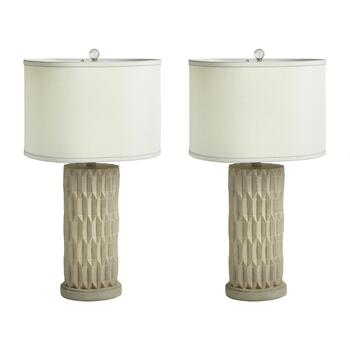 "27.25"" Accord Oval Table Lamps, Set of 2"