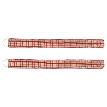 Plaid Fleece Draft Blockers, Set of 2