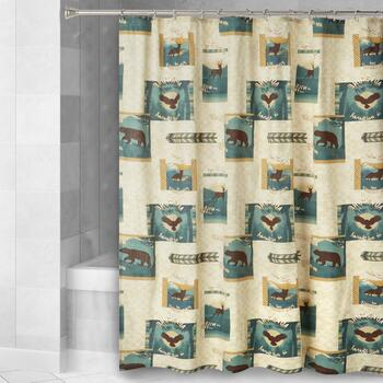 Wild Forest Lodge Shower Curtain