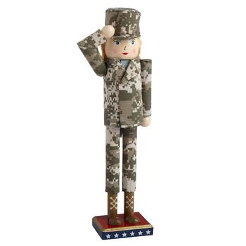 "15"" Camouflage Air Force Nutcracker"