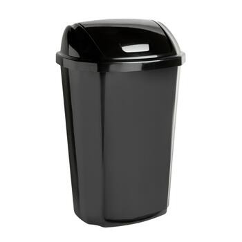 Hefty® 13.5-Gallon Black Swinging Top Garbage Can