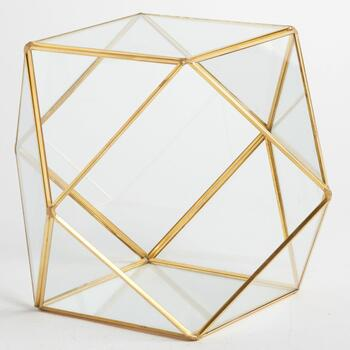 "10"" Metal Square/Triangle Terrarium"