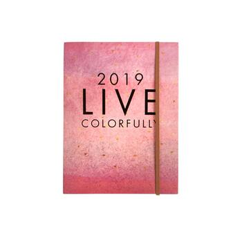 "Pink ""Live Colorfully"" 2019 18-Month Planner"