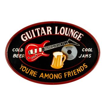 """Guitar Lounge"" Hanging Wall Decor"