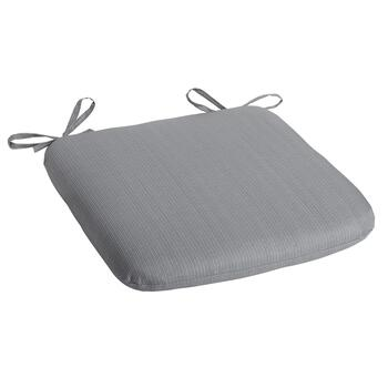 Solid Gray Indoor/Outdoor Squared Seat Pad
