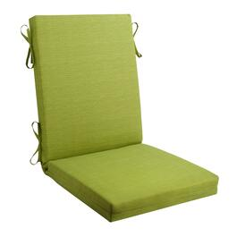 Solid Green Indoor/Outdoor Hinged Chair Pad
