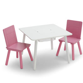 Girls Pink 3-Piece Table & Chair Set view 1