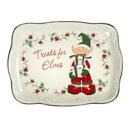 "Famous Maker ""Treats for Elves"" Mini  Serving Platter"