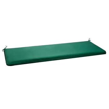 Solid Hunter Green Indoor/Outdoor Bench Seat Pad