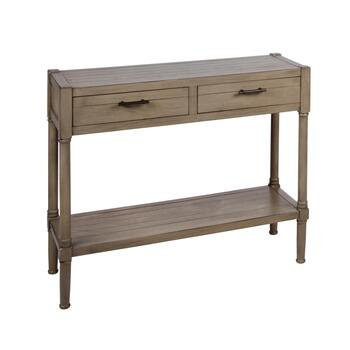 "30"" 2-Drawer Plank Top Console Table"